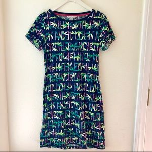 Tommy Bahama bamboo forest stripe dress